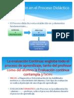 La Evaluación en el Proceso Didáctico