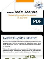 Cost Sheet Analysis of Software Companies