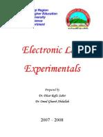 Electronics Lab Experimentals