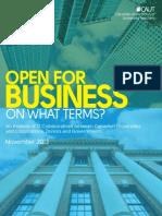 Open for Business (Nov 2013)
