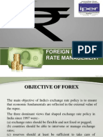 FOREIGN EXCHANGE RATE MANAGEMENT
