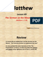 9. the Sermon on the Mount, Part 4