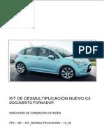 Kit de desmultiplicación Nuevo C3 A51 formador