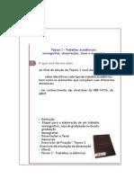 Topico 2 - Trabalhos Academicos, Monografias, Dissertacoes, Teses e Memoriais