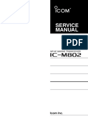 ICOM IC-M802 Service Manual | Amplifier | Audio Electronics