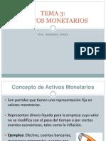 Activos Monetarios - Tema 3