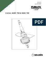 Instrucciones 595-231-E MANUAL-FURLEX-200-TD-300-TD-03-SEPTIEMBRE-2007