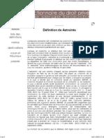Dictionnaire juridique - Dé...
