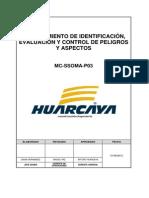 MC-SSOMA-P03 Identificación, Evaluación y Control de Peligros y Aspectos Ver. 00