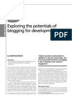 Exploring the potentials of  blogging for development