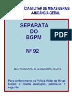 INSTRUÇÃO 3.03 POL TURISTICO
