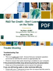 EXT2012!08!22 RD Tax Credit Don't Leave Money on the Table Presentation