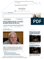 Começa julgamento de ex-membro da polícia nazista de 92 anos - Jornal O Globo