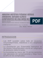 Absceso hepático piógeno versus amebiano