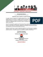 Declaración Pública – Comité Central – Febrero de 2014