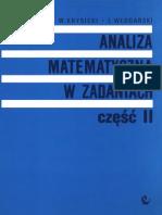 Analiza Matematyczna W Zadaniach Tom 2 - Krysicki Włodarski