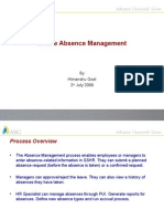 Oracle Absence Management