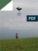 1000 Shillings Fellowship 2014