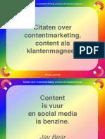 Contentmarketing Citaten Klantenmagneet Content Quotes Arend Landman Oneliners