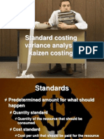 standard costing variance analysis kaizen costing