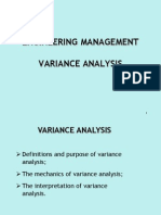 variance analysis  standard costing