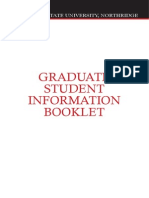 Graduate Student Info Booklet