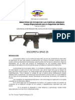 Folleto de Escopeta SPAS 15