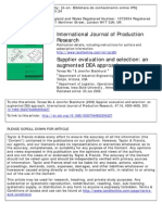 Supplier Evaluation and Selection.. an Augmented DEA Approach 2009