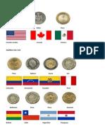 MONEDAS Y BANDERAS DE LOS PAÍSES DE AMÉRICA