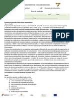 Testes2011-2012CEF T21%BA Ano1%BA CicloFicha de Trabalho - Consumo Esclarecido