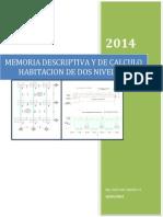 Memoria Descriptiva y de Calculo Habitacion Dos Niveles