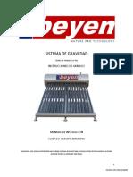 Calentador Solar Beyen Manual Gravedad