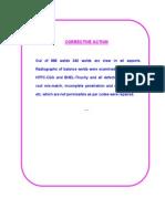 CorrectivePreventive Action-Report on T91