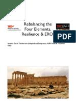 Riequilibrare i 4 elementi. Resilienza & EROI - Dario Tamburrano