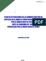 PLAN ACTUACIÓN ADMINISTRACIÓN DE JUSTICIA ANTE PANDEMIA GRIPE