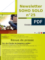 Newsletter Soho Solo n°25 Octobre 09