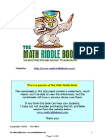 Math Riddle Book