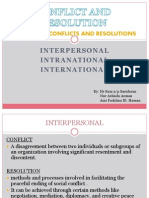 Types of Conflicts and Resolutions