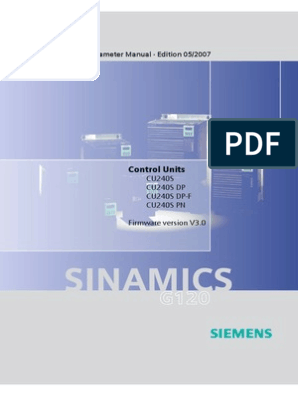 SINAMICS G120 - Parameter Manual - Siemens | Control Theory