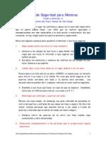 Child Safety Tips Spanish