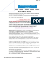 Excel Macros Beginners