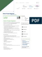 SEEK - Senior Project Engineer Job in Perth