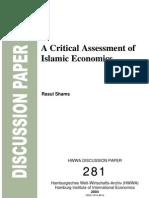 a critical assessment of islamic economics