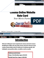 Rate Card - Cinema Online Website
