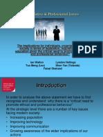 Profesional & Legislative Presentation