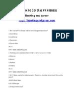 SBI Bank PO Sample Paper 3