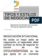 TIPOS DE NEGOCIACIÓN