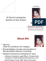 NEW 10 Tip to Creating Biz of Your Dreams