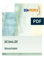 Sap Sd Returns and Complaints Process in Sap