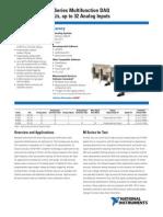 High-Accuracy M Series Multifunction DAQ 18-Bit, Up to 625 kS/s,
